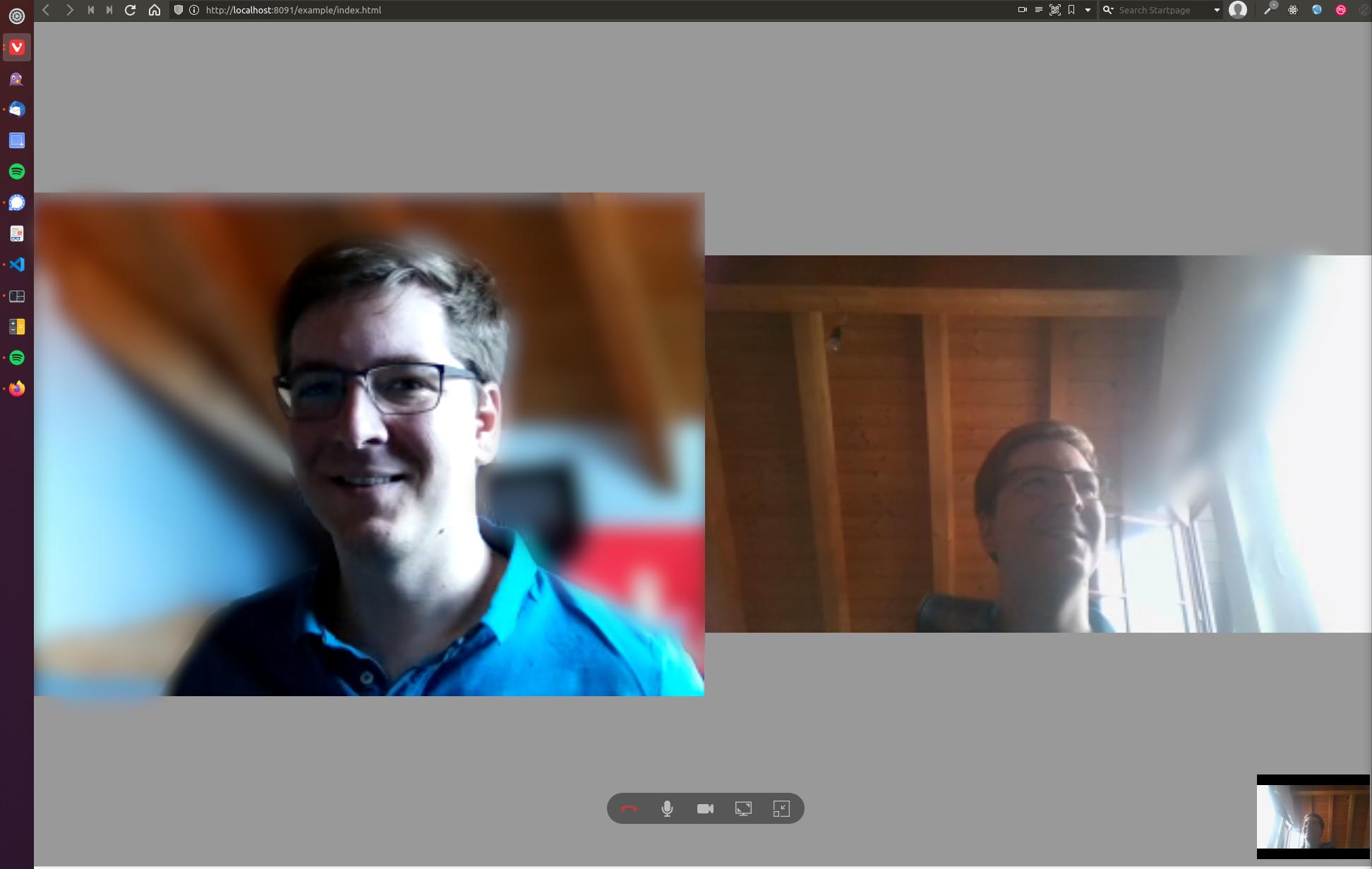 Screenshot JSXC group-call