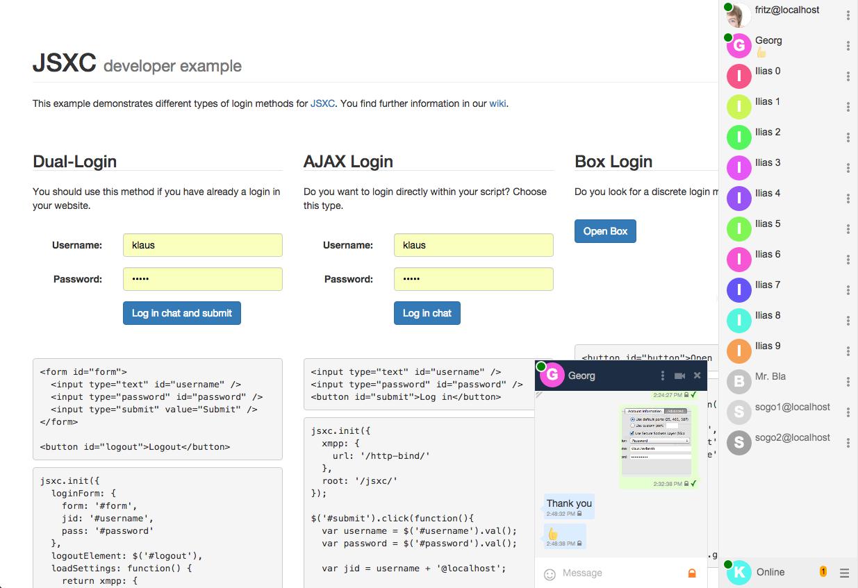 JSXC: JavaScript XMPP Client